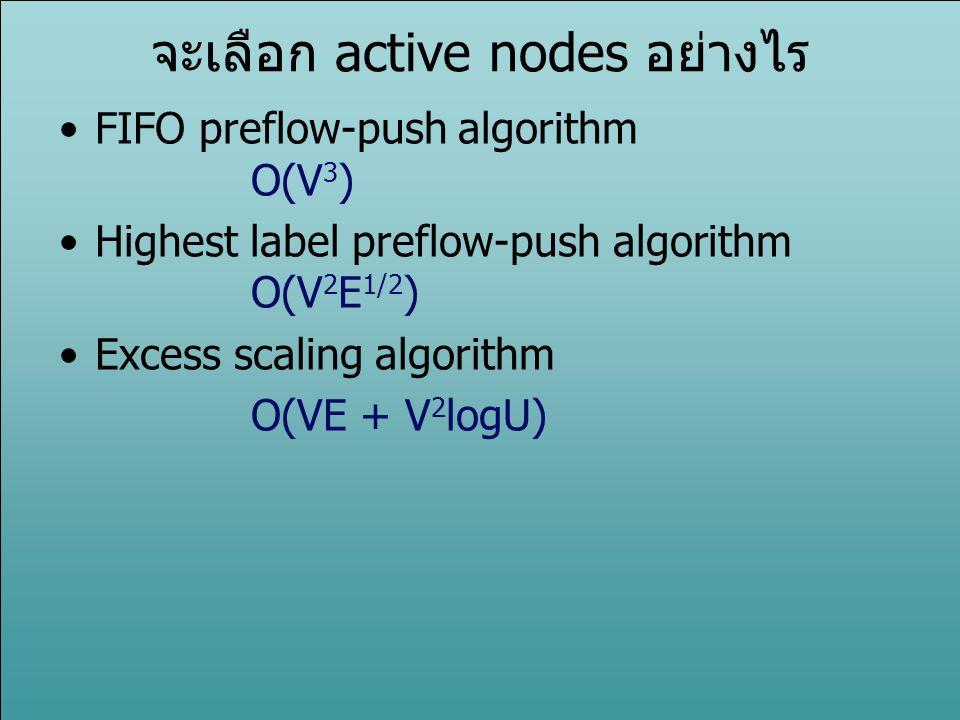 จะเลือก active nodes อย่างไร
