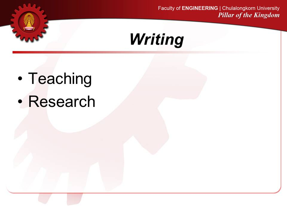 Writing Teaching Research
