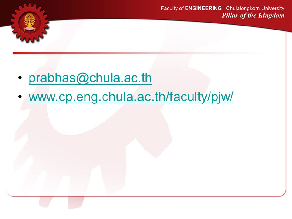 prabhas@chula.ac.th www.cp.eng.chula.ac.th/faculty/pjw/