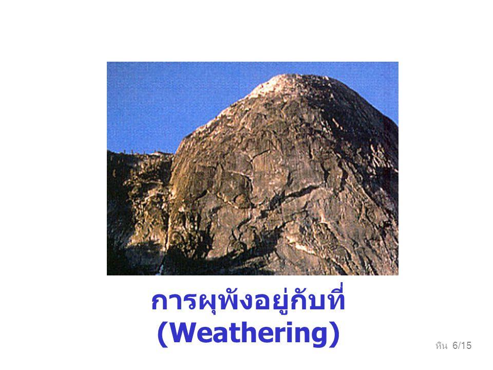 การผุพังอยู่กับที่ (Weathering)