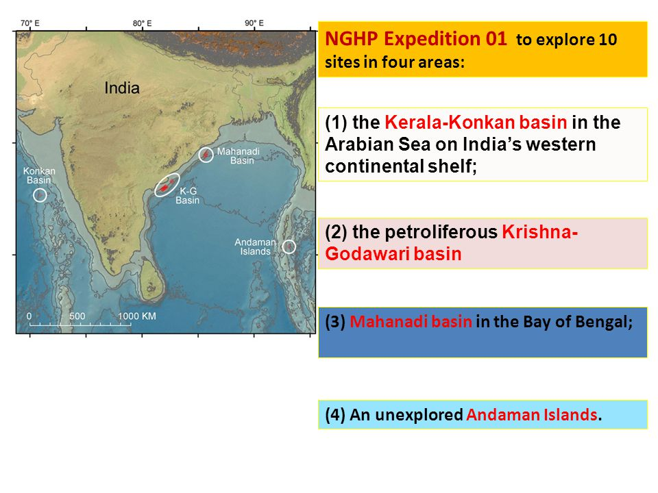 NGHP Expedition 01 to explore 10 sites in four areas: