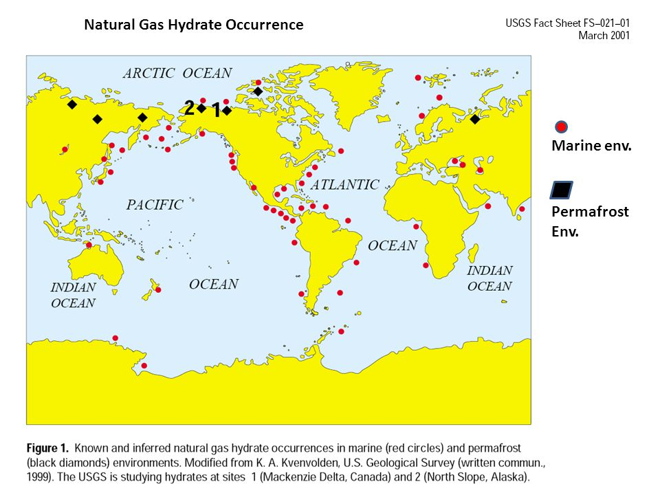 Natural Gas Hydrate Occurrence
