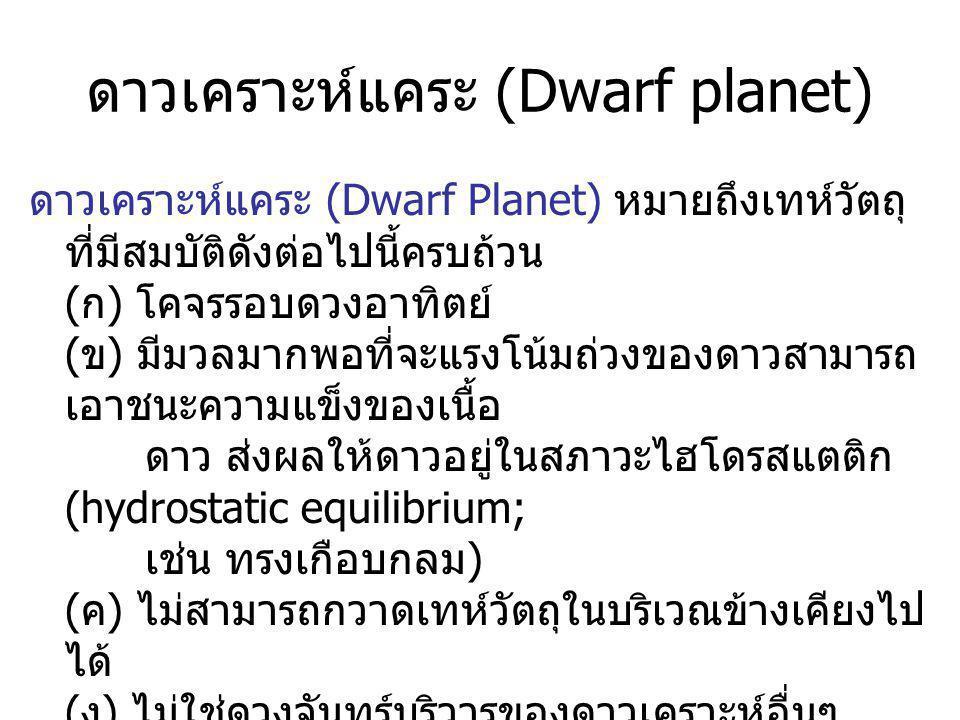 ดาวเคราะห์แคระ (Dwarf planet)