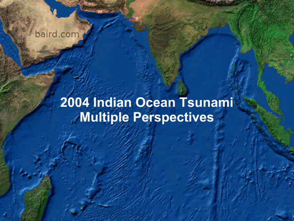 Earthquake and tsunami simulation/animation models