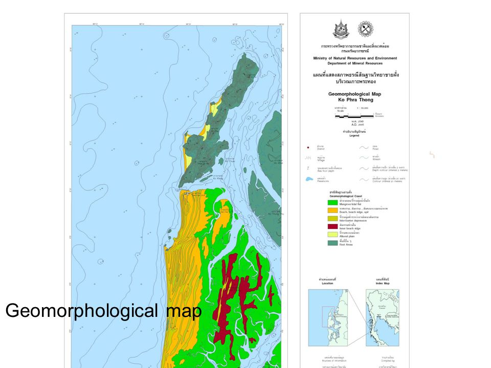 Geomorphological map