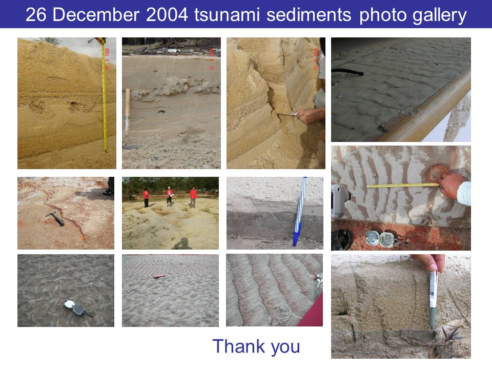 26 December 2004 tsunami sediments photo gallery
