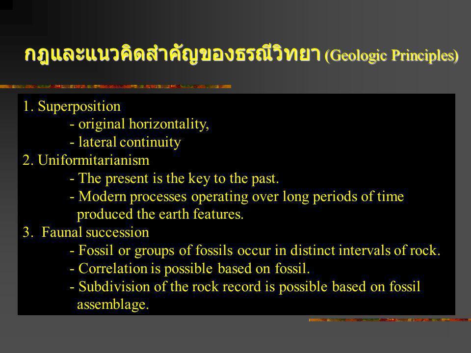กฎและแนวคิดสำคัญของธรณีวิทยา (Geologic Principles)
