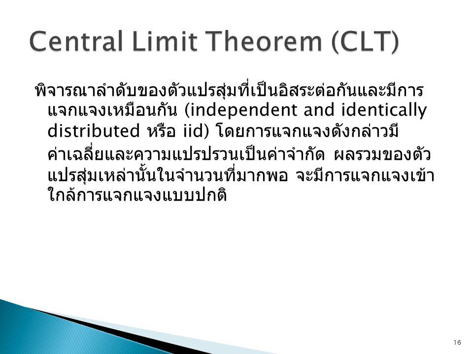 Central Limit Theorem (CLT)