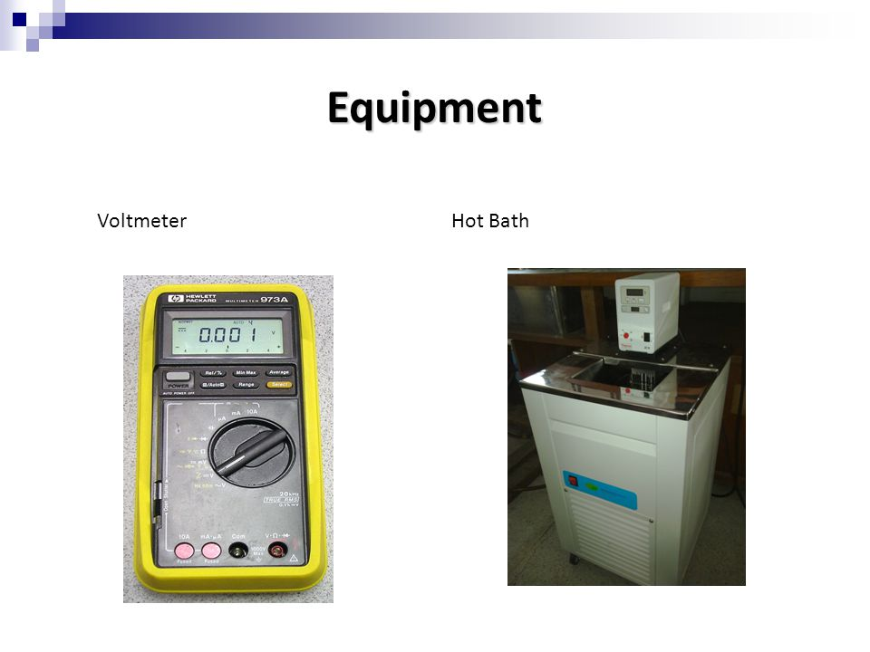 Equipment Voltmeter Hot Bath