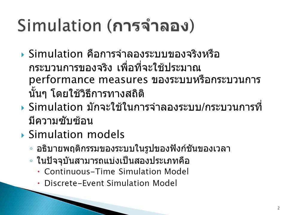 Simulation (การจำลอง)