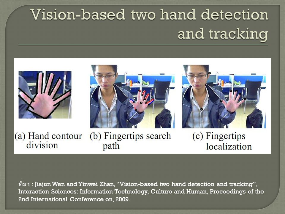 Vision-based two hand detection and tracking