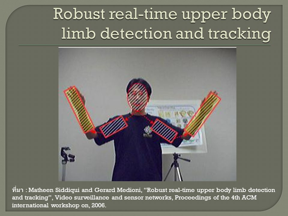 Robust real-time upper body limb detection and tracking