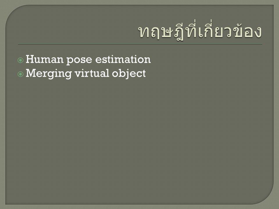 ทฤษฎีที่เกี่ยวข้อง Human pose estimation Merging virtual object