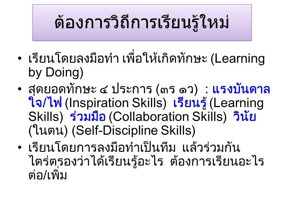 ต้องการวิถีการเรียนรู้ใหม่