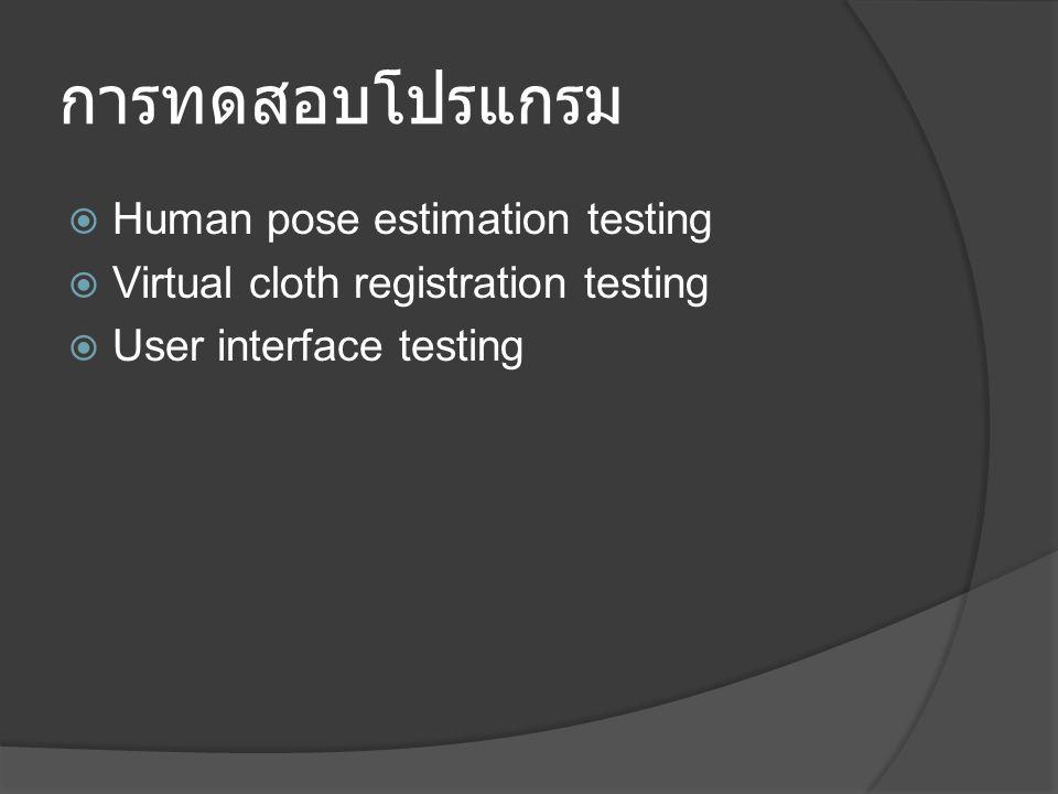 การทดสอบโปรแกรม Human pose estimation testing