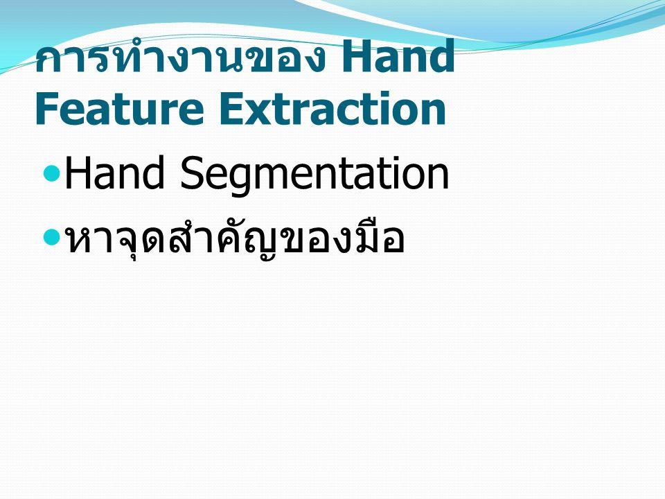 การทำงานของ Hand Feature Extraction