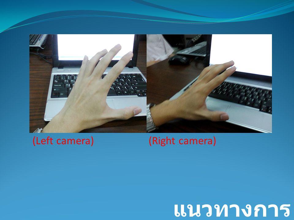 (Left camera) (Right camera) แนวทางการพัฒนา