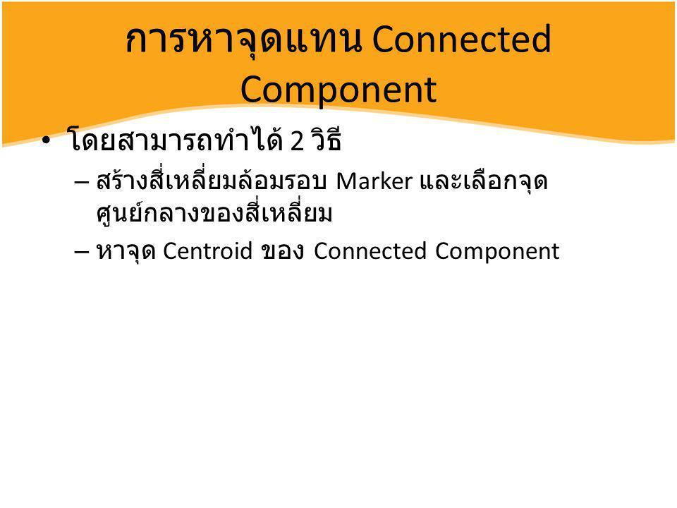 การหาจุดแทน Connected Component