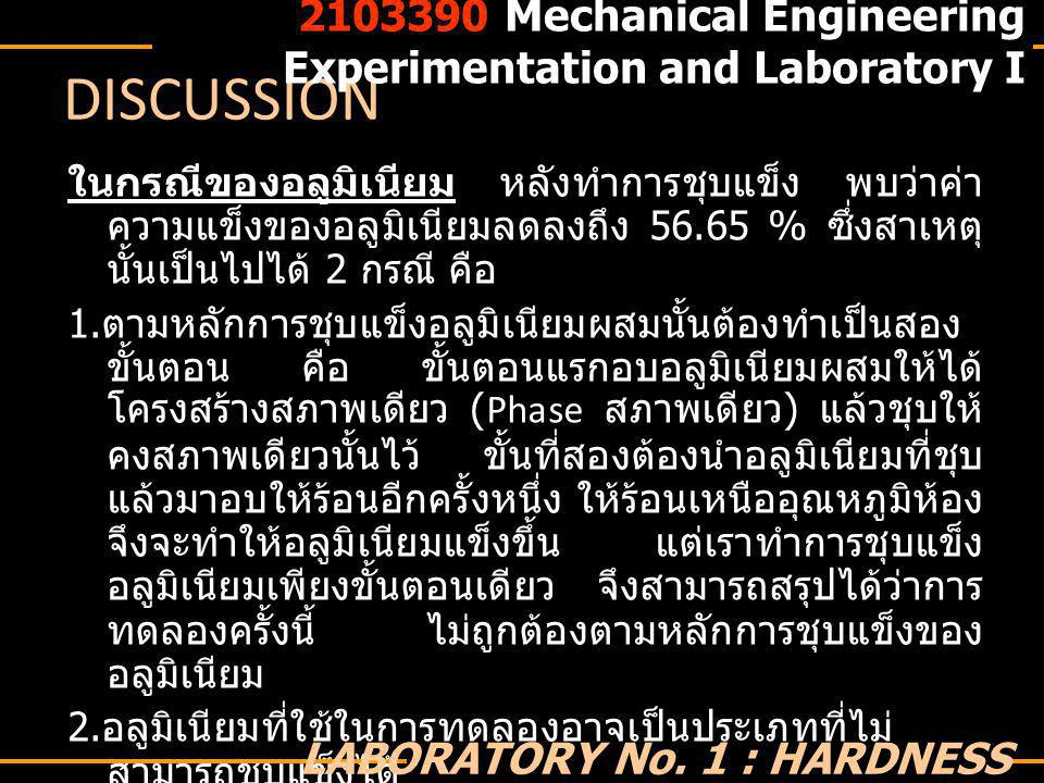 Mechanical Engineering Experimentation and Laboratory I