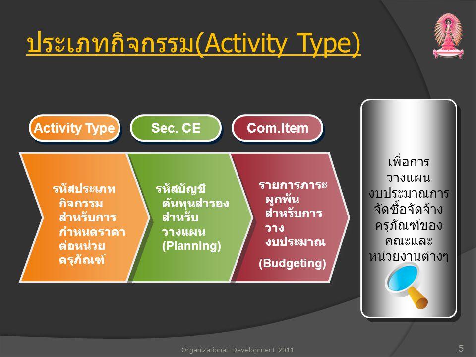 ประเภทกิจกรรม(Activity Type)