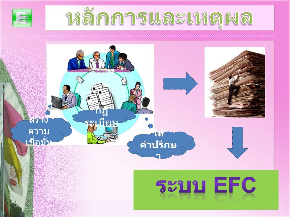 หลักการและเหตุผล ระบบ EFC