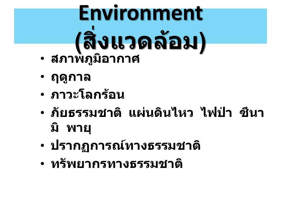 Environment (สิ่งแวดล้อม)