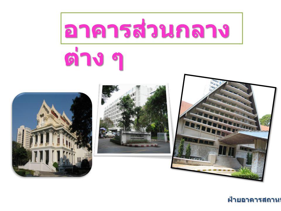 อาคารส่วนกลางต่าง ๆ ฝ่ายอาคารสถานที่