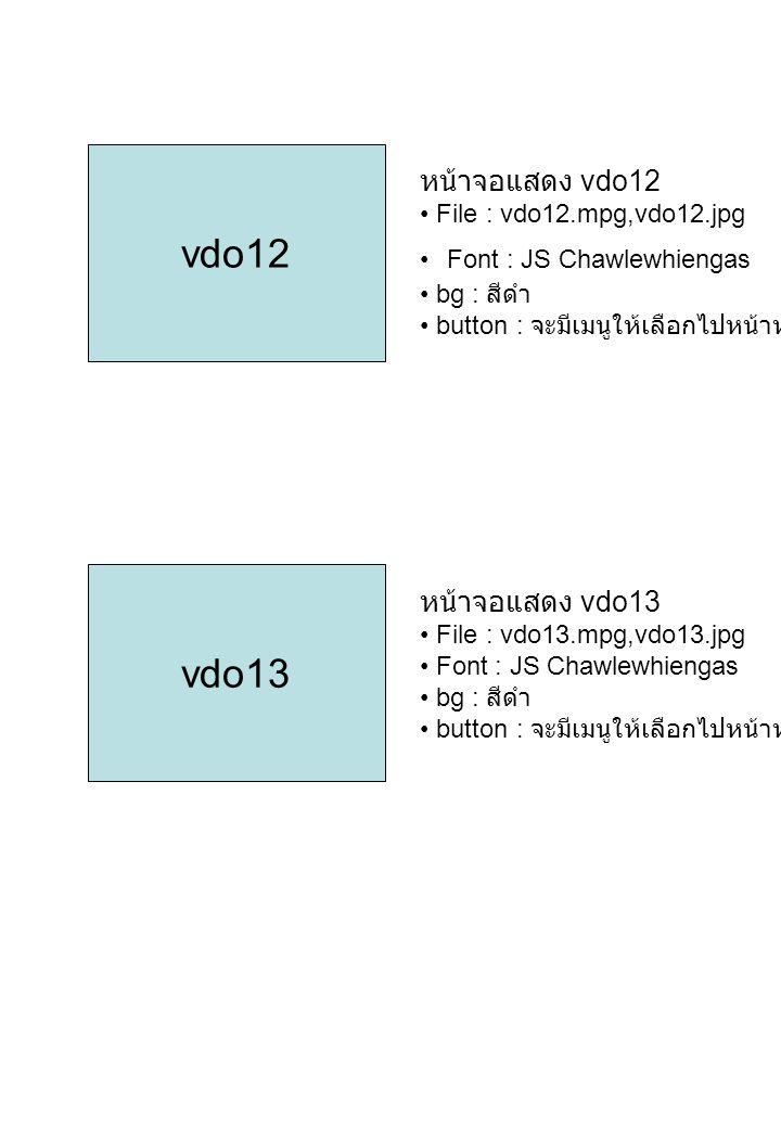 vdo12 vdo13 หน้าจอแสดง vdo12 หน้าจอแสดง vdo13