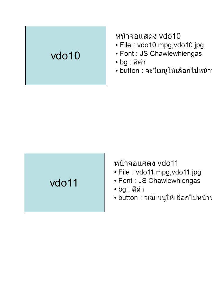 vdo10 vdo11 หน้าจอแสดง vdo10 หน้าจอแสดง vdo11