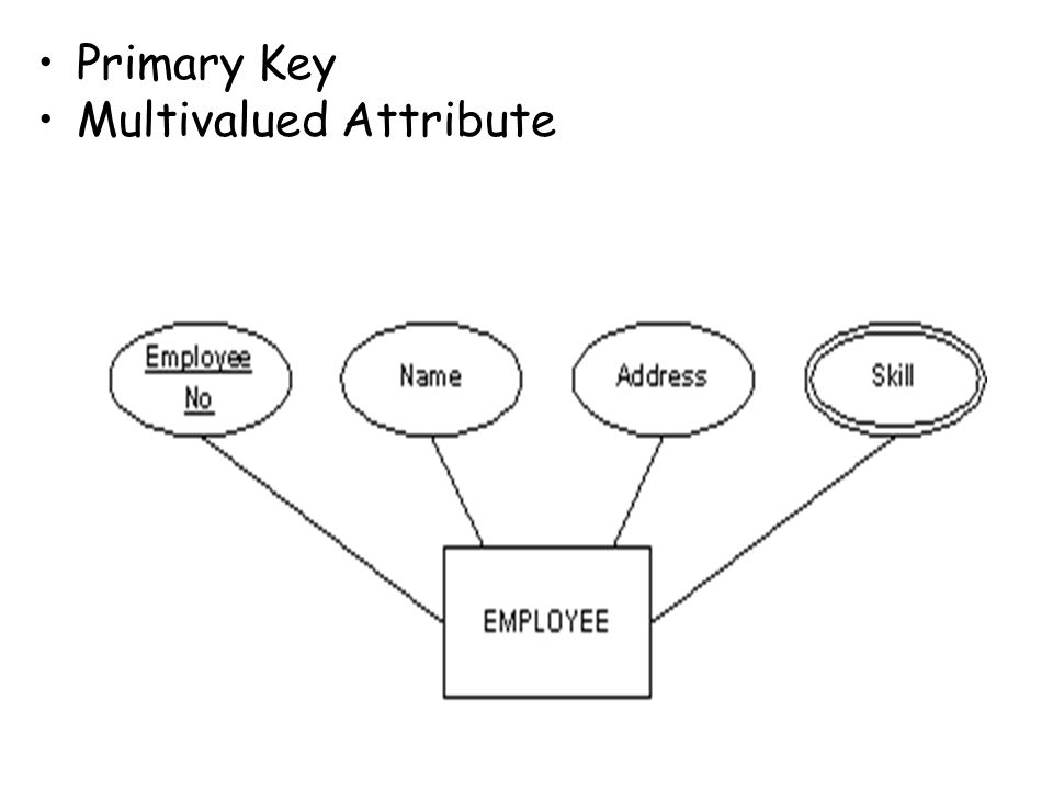 Primary Key Multivalued Attribute