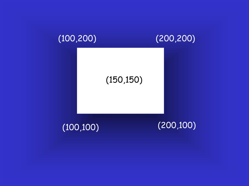 (100,200) (200,200) (150,150) (200,100) (100,100)