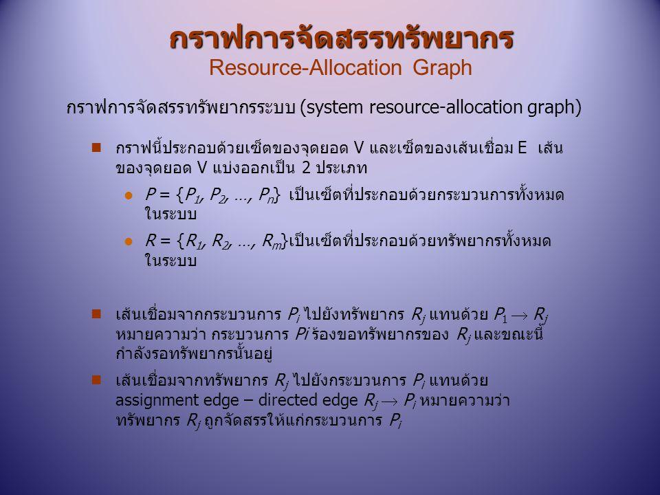 กราฟการจัดสรรทรัพยากร Resource-Allocation Graph