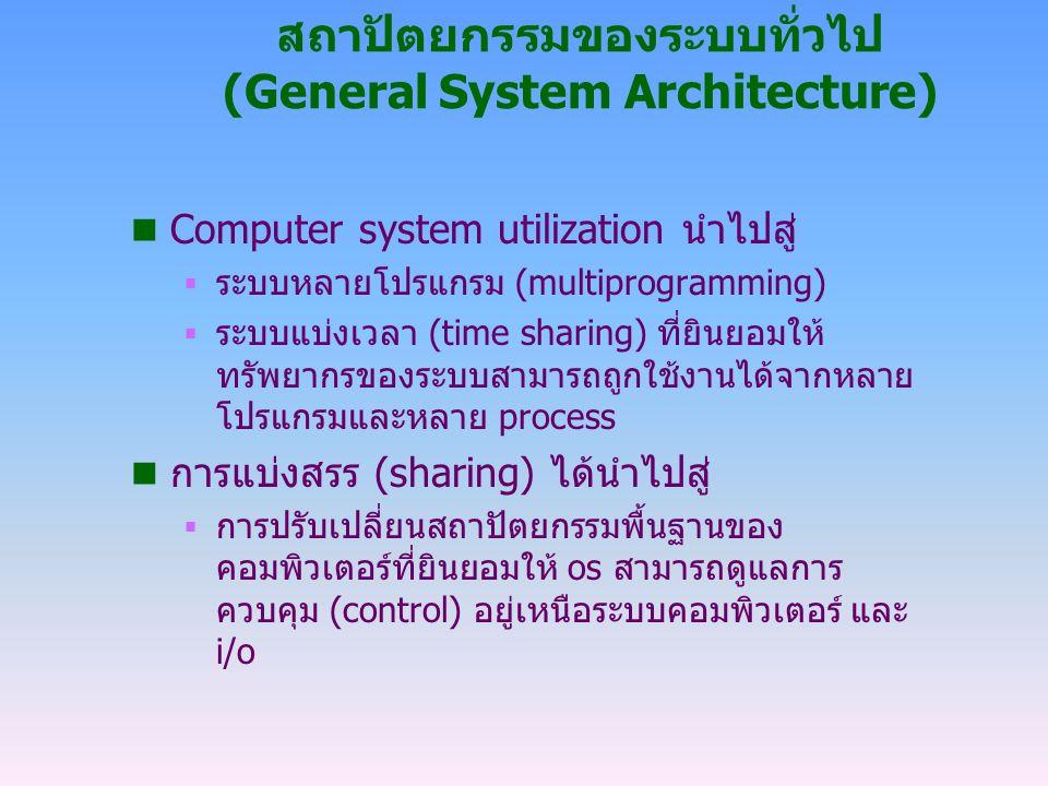 สถาปัตยกรรมของระบบทั่วไป (General System Architecture)