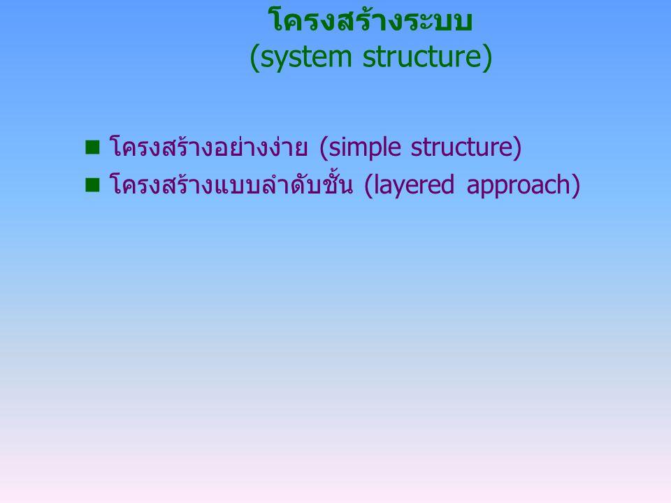 โครงสร้างระบบ (system structure)