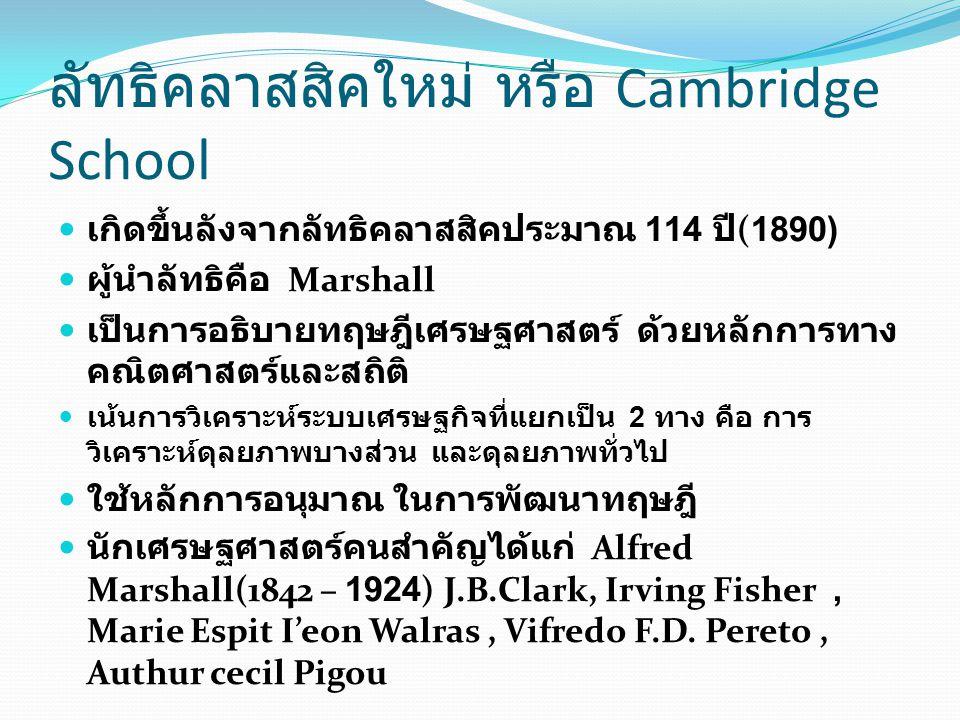 ลัทธิคลาสสิคใหม่ หรือ Cambridge School