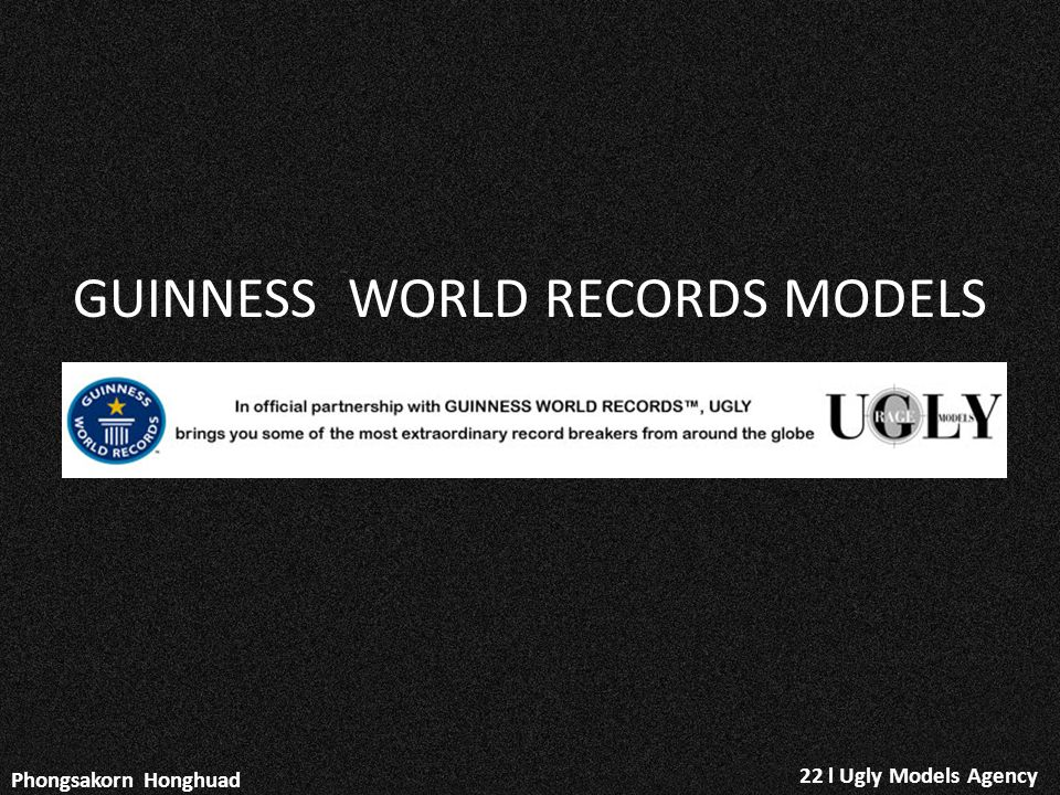 GUINNESS WORLD RECORDS MODELS