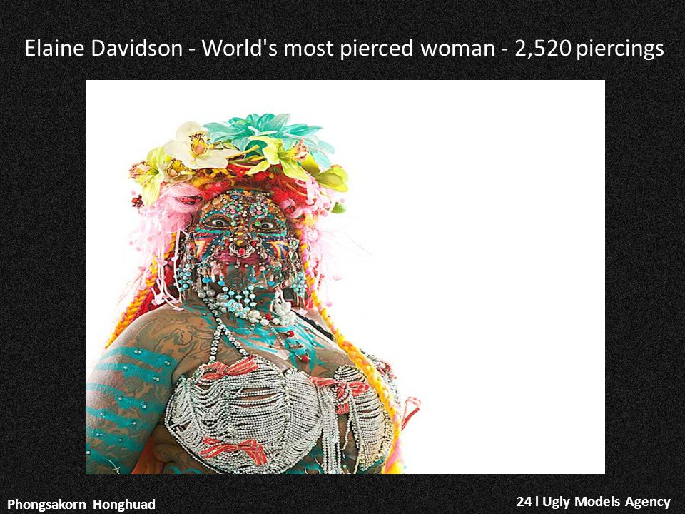 Elaine Davidson - World s most pierced woman - 2,520 piercings