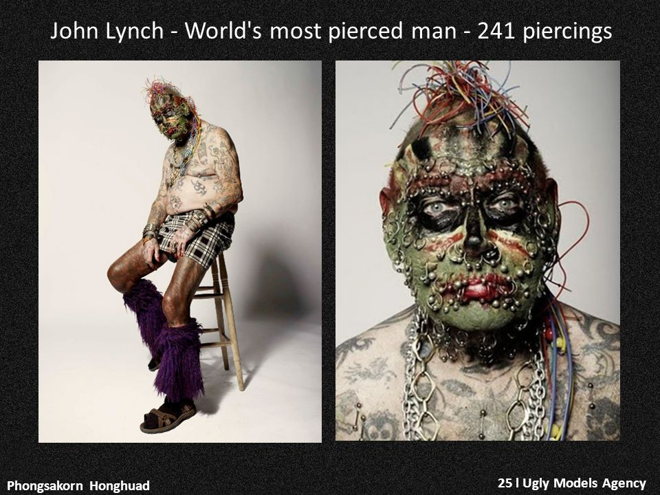 John Lynch - World s most pierced man - 241 piercings