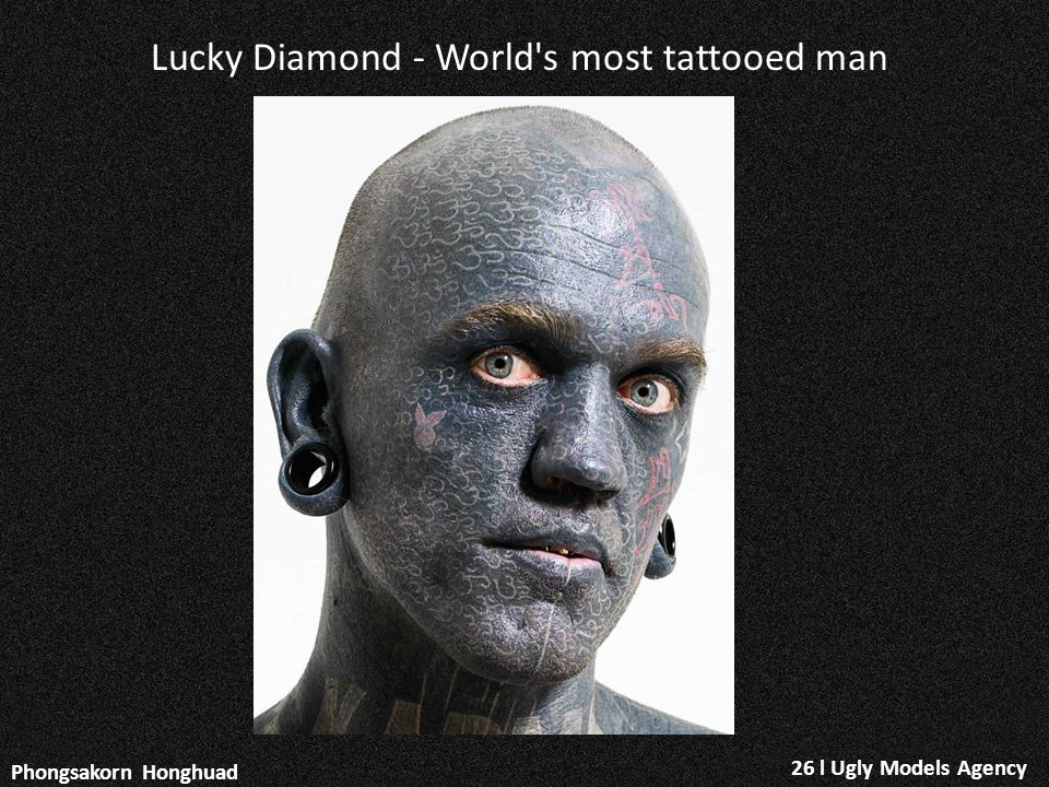 Lucky Diamond - World s most tattooed man