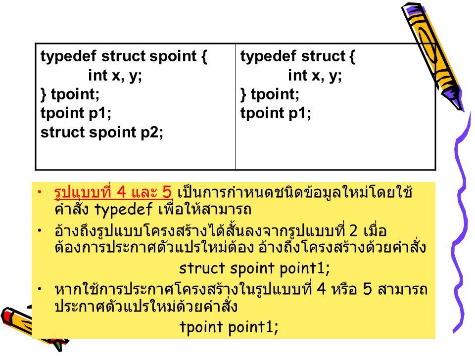 typedef struct spoint {
