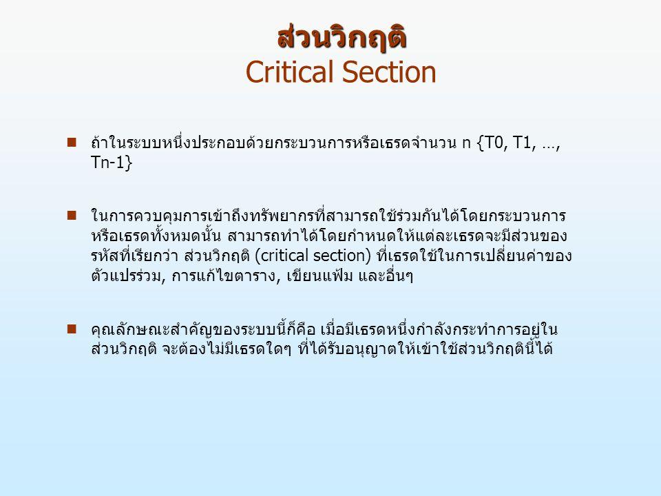 ส่วนวิกฤติ Critical Section