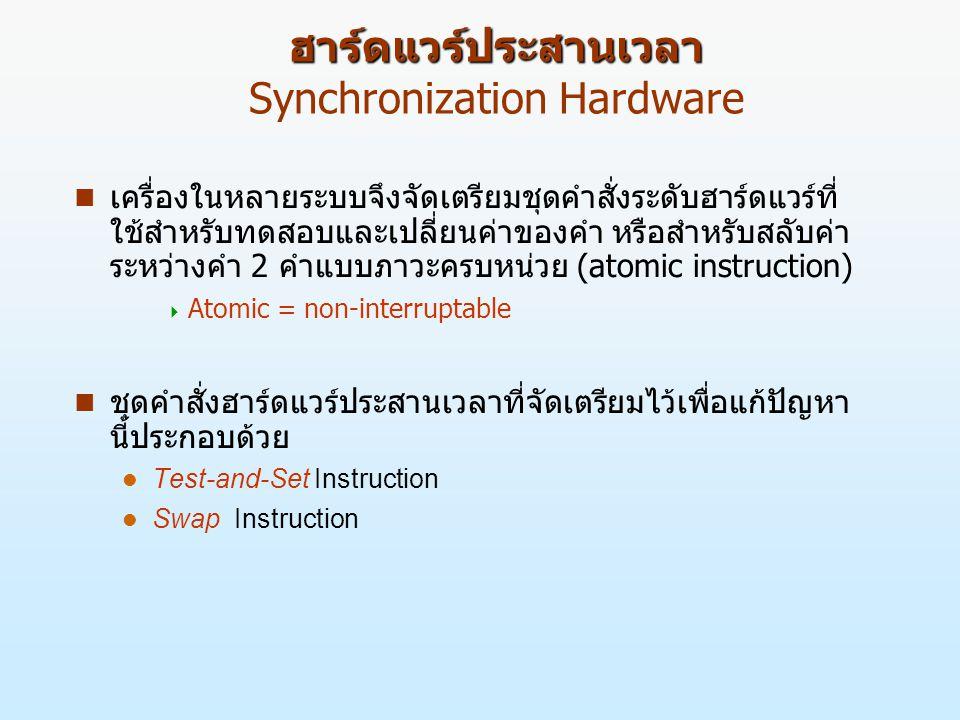 ฮาร์ดแวร์ประสานเวลา Synchronization Hardware