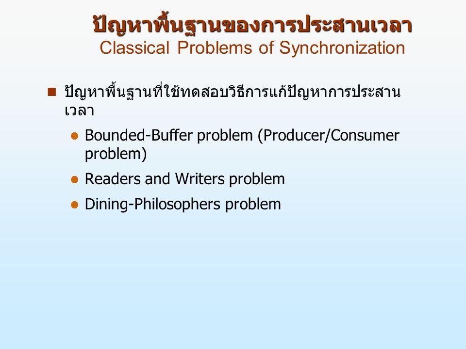 ปัญหาพื้นฐานของการประสานเวลา Classical Problems of Synchronization