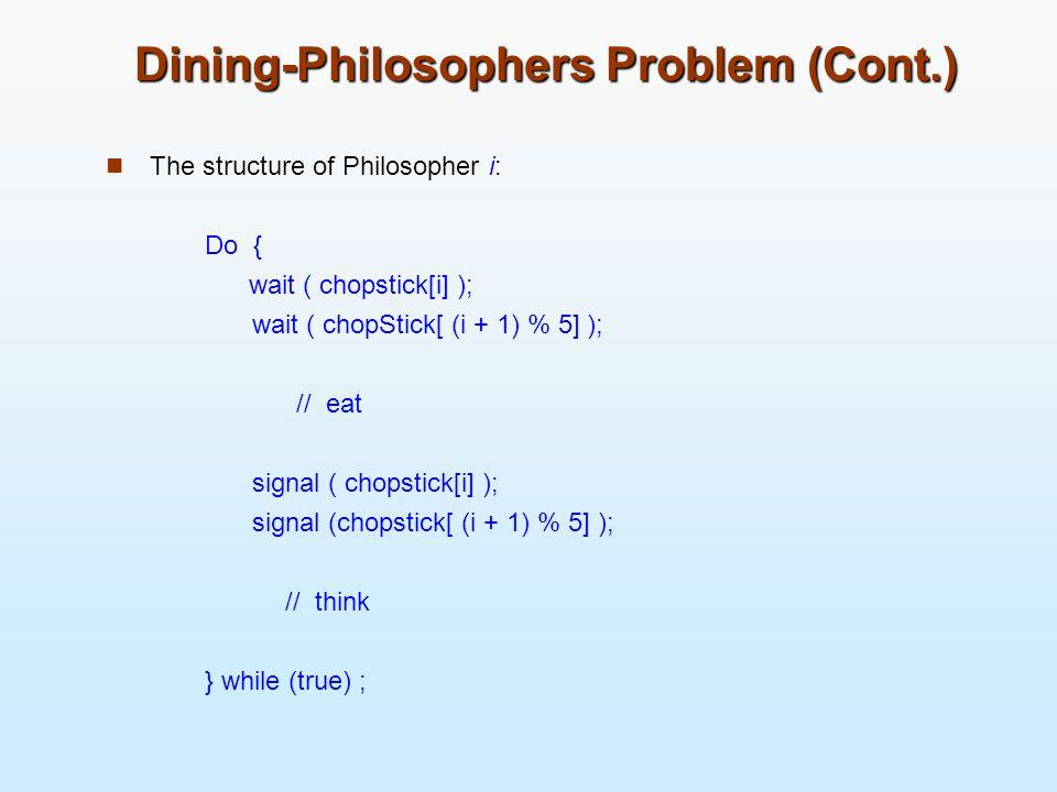 Dining-Philosophers Problem (Cont.)