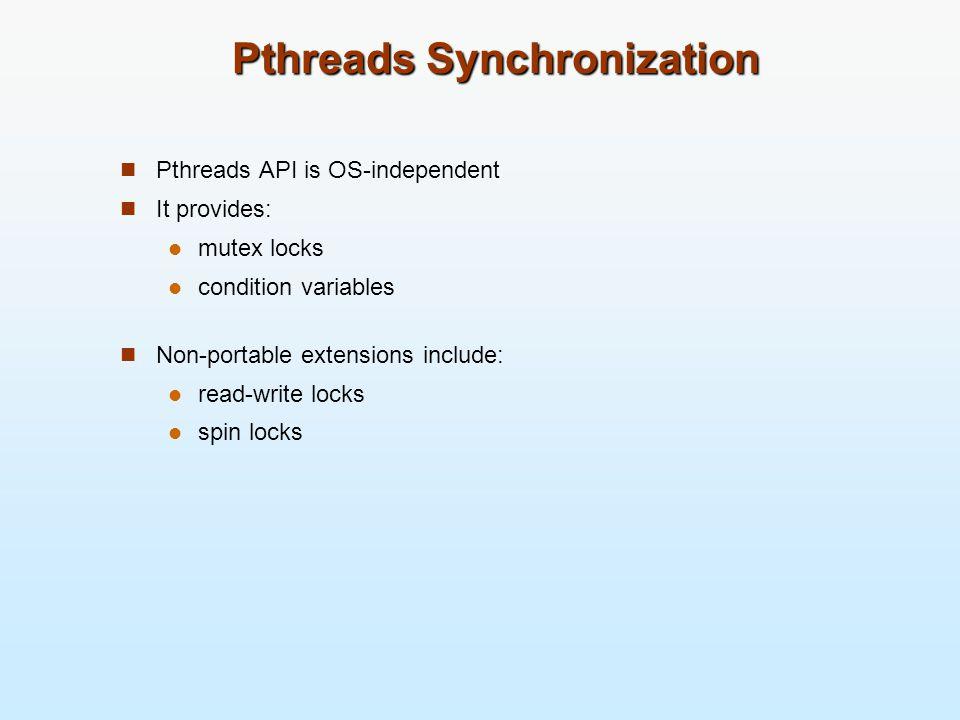 Pthreads Synchronization