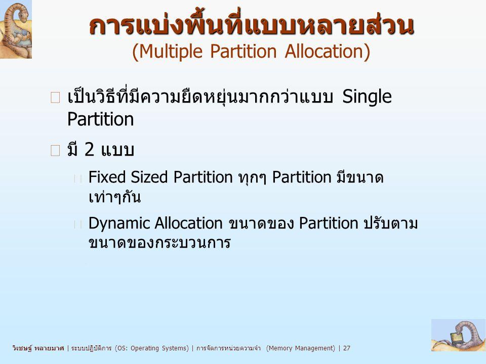 การแบ่งพื้นที่แบบหลายส่วน (Multiple Partition Allocation)