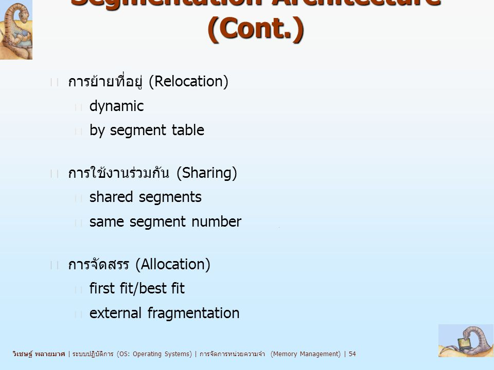 Segmentation Architecture (Cont.)