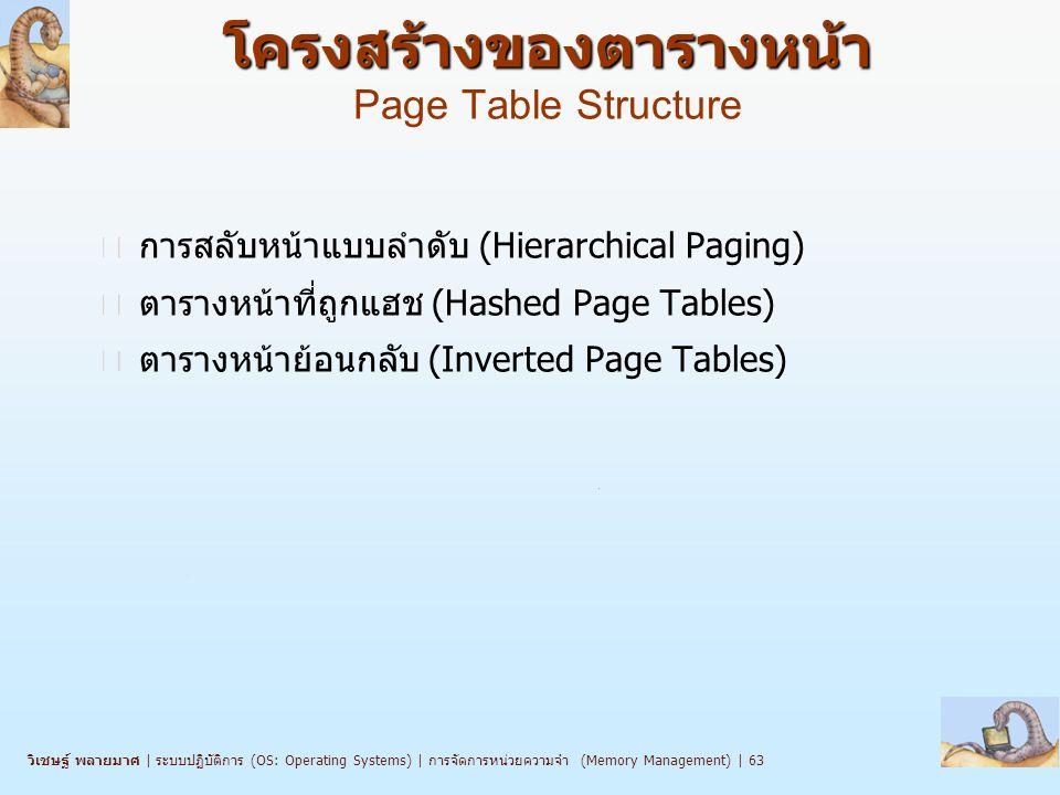 โครงสร้างของตารางหน้า Page Table Structure