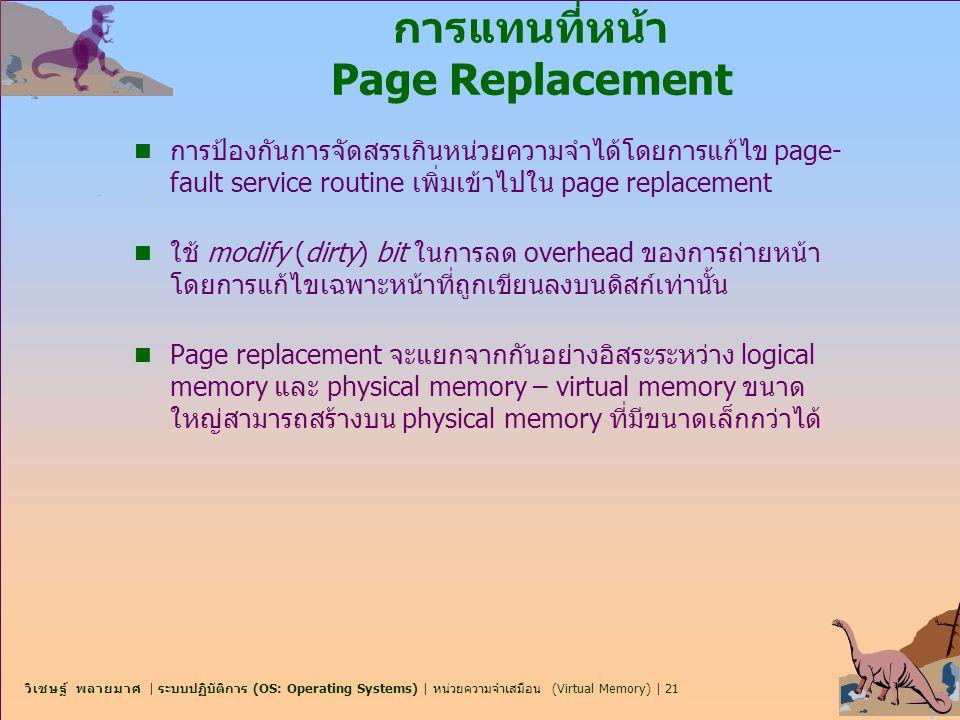 การแทนที่หน้า Page Replacement