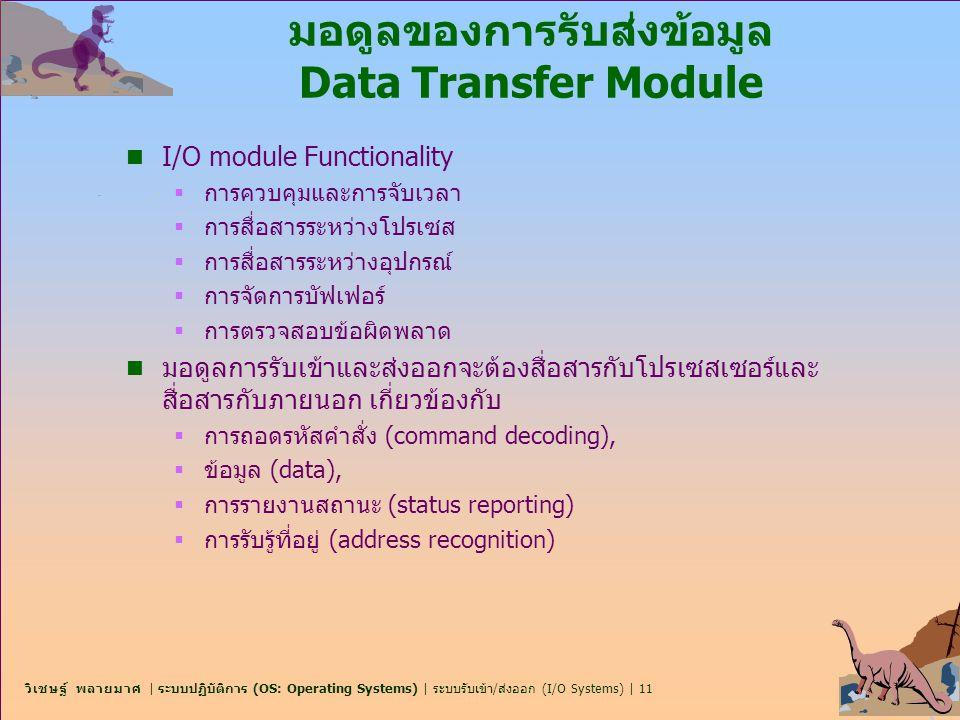 มอดูลของการรับส่งข้อมูล Data Transfer Module